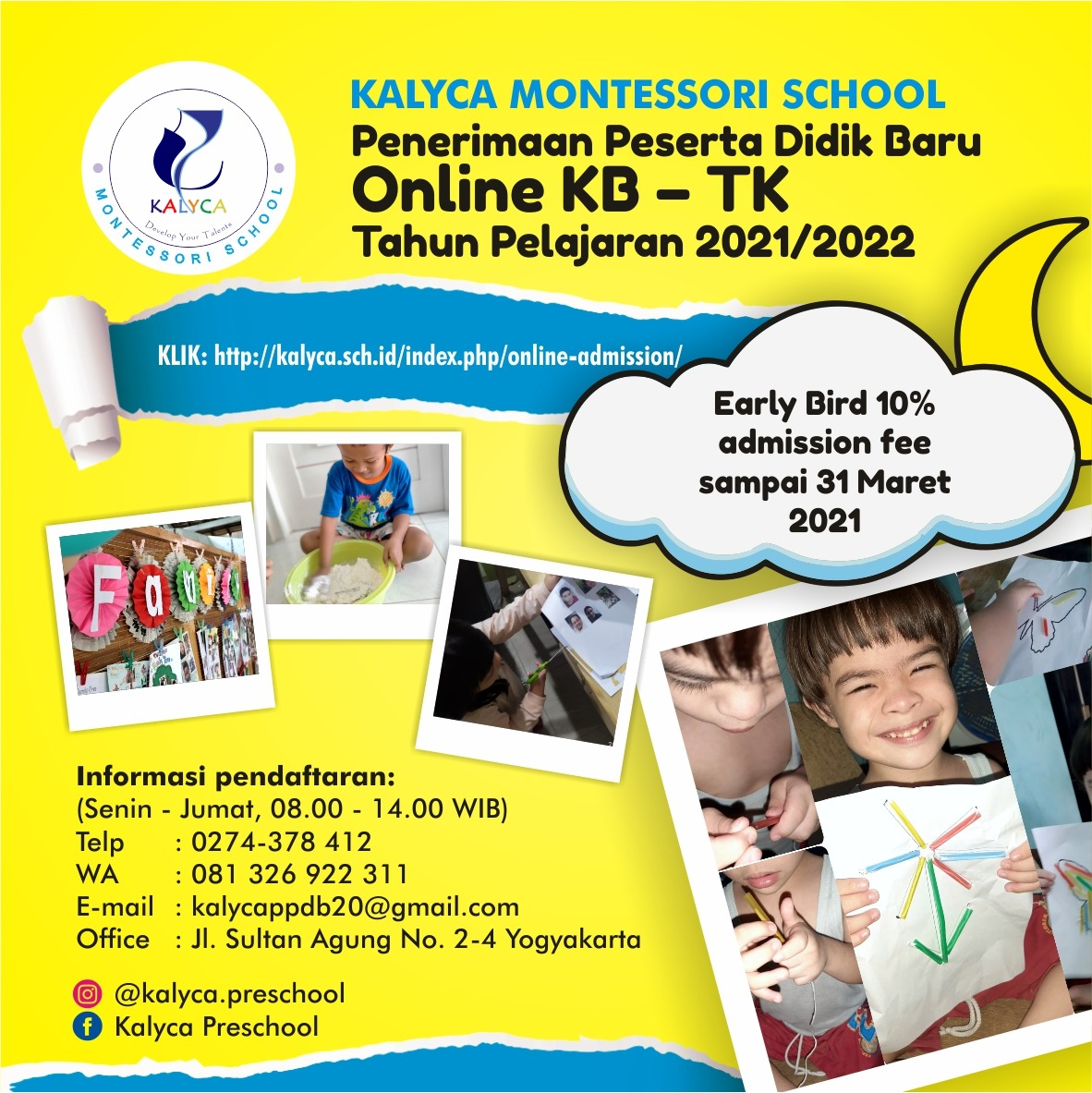 Kalyca Online Admission Early Childhood