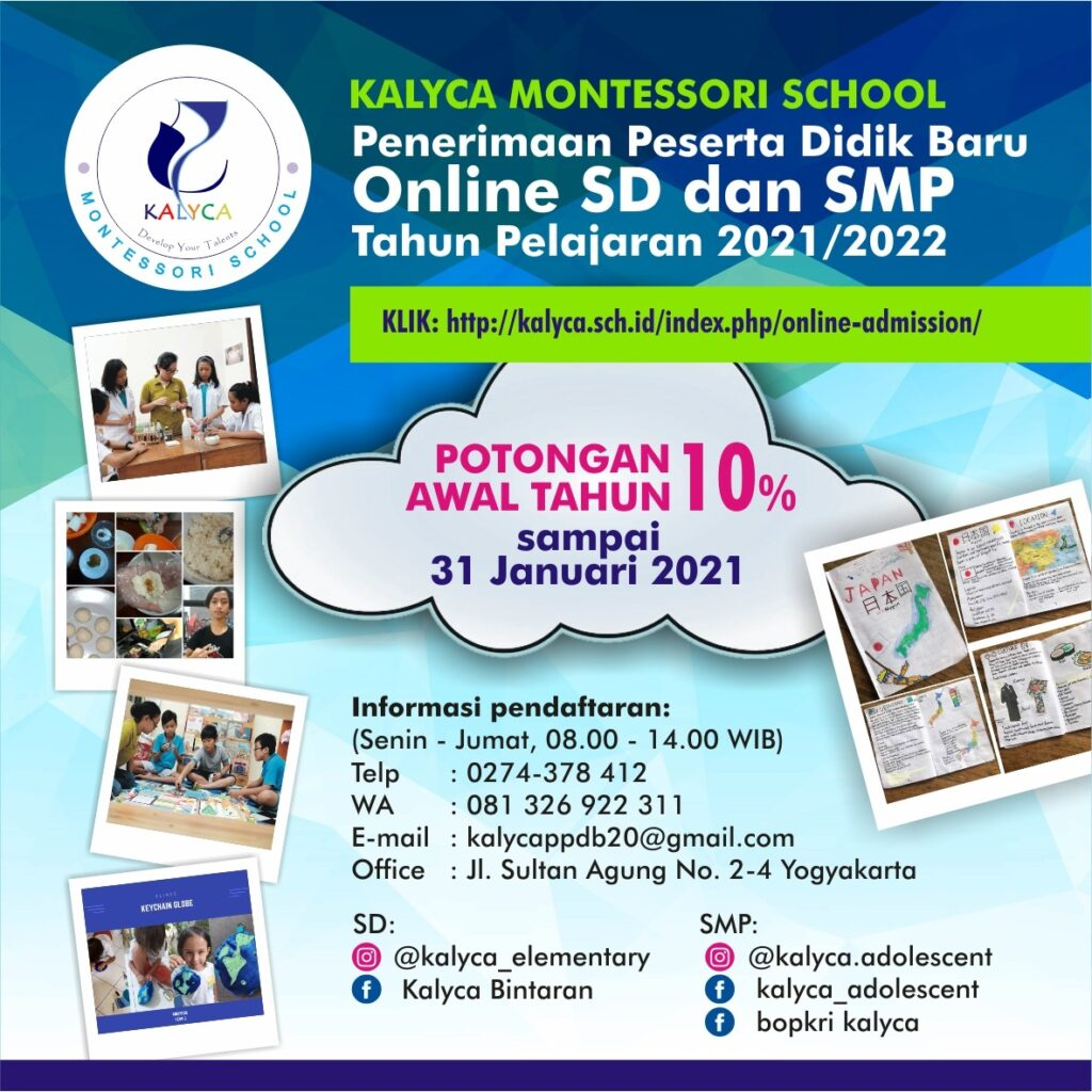 Kalyca Online Admission Elementary & Adolescent